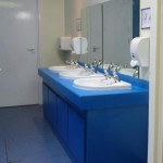 New bathroom facility in a primary school, Bridgwater