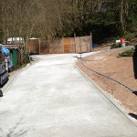 concrete driveway reduces risk of slipping